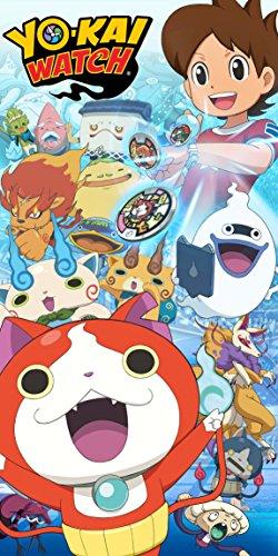 Textil Tarragó Yo- Kai Watch Toalla de Playa, Algodón, Azul, 30x40x3 cm