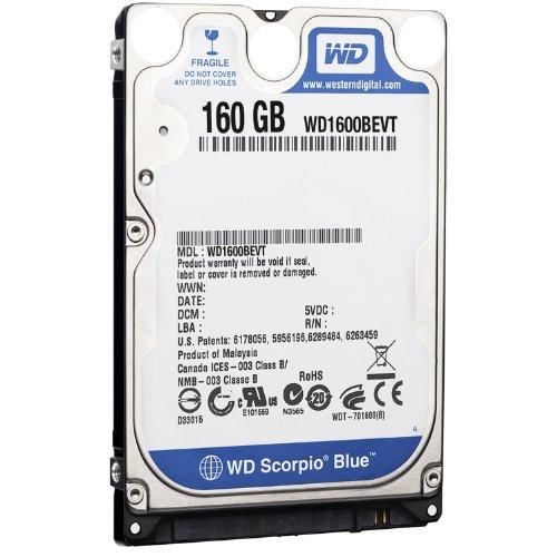 Western Digital WD1600BEVT 160GB interne Festplatte (6,3 cm (2,5 Zoll), 5400rpm, 12ms, 8MB Cache, SATA)