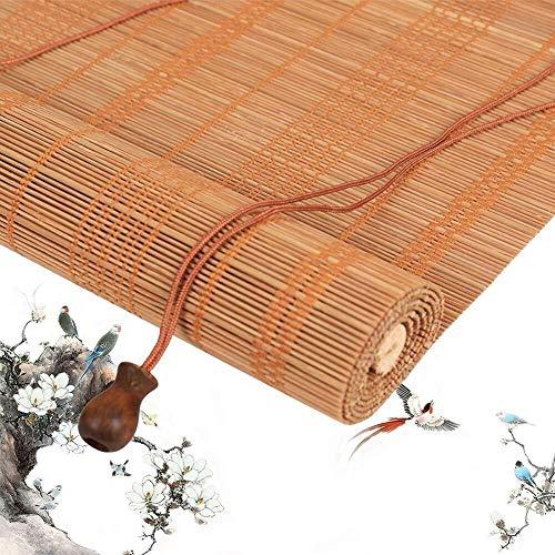 Bamboe Rolgordijn Rolgordijn Bamboe Vouwgordijn Rolgordijnen Houten Rolgordijn - Schaduwgordijn Zonnescherm Zonwering Raam Naar Tuin Balkon Multi-size  (Maat: 80X160CM)