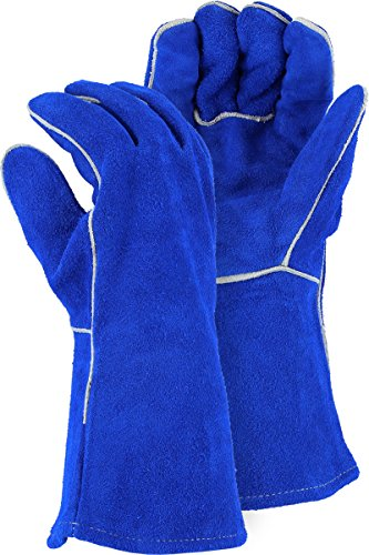 Majestic 1514BL Kevlar Fire Retardant Heatshield Split Welding Glove Size Large (1 pair)
