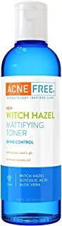 Acne Free Witch Hazel Mattifying Toner 8.4 oz with Witch Hazel, Glycolic Acid, Aloe Vera, Toner to Help Rebalance Skin's pH and Remove Excess Oil