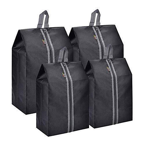 WIRABO 4-delige set schoenentassen voor dames en heren, eenvoudig schoenenzakje voor sneakers, hakken, laarzen en sandalen, voor het bewaren van reizen