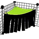 LeerKing Tienda de Esquina para Pequeños Animales Mini-Tienda de Campaña con Flecos Mascotas Jaula Escondite para Hámster Hurones Chinchilla Cobaya Conejo Erizo, Verde