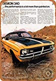 McC538arthy Metal Tin Sign, 1971 Dodge Demon 340 Vintage Wall Plaque Man Cave Poster Decorative Sign Home Decor for Indoor Outdoor Birthday Gift 8x12 Inch