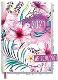 Chäff-Timer Classic A5 Kalender 2020/2021 [Hibiskusblüte] Terminplaner 18 Monate: Juli 2020 bis Dez. 2021   Wochenkalender, Organizer, Terminkalender mit Wochenplaner - nachhaltig & klimaneutral