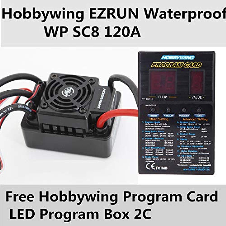 Laliva Speed Controller Hobbywing EZRUN Waterproof WP SC8 120A Brushless ESC+Free Program Card LED Program Box