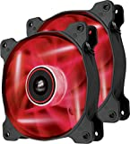 Corsair CO-9050029-WW Air Series SP 120 LED Red High Static Pressure Fan Cooling - twin pack