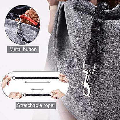 aofook Adjustable Dog Pet Sling Waterproof Carrier Bag with Soft Shoulder Pad Zippered Pocket for Outdoor Travel (Grey, Adjustment) 5