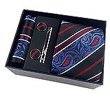 dlvkhkl cravatte floreali di larghezza classica di paisley cravate homme cravatte di seta da uomo per uomo suit business wedding cravatta confezione regalo (color : c)