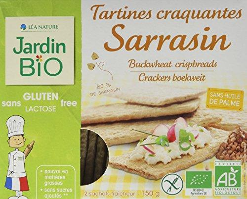 Jardin Bio Tartines craquantes sarrasin, sans gluten & lactose - Les 2 sachets, 150g