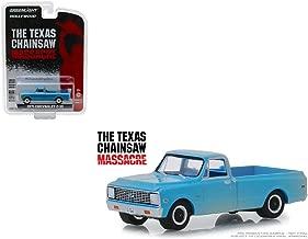 Greenlight 44820 B 1971 Chevrolet C-10 Pickup Truck Blue (Dusty) The Texas Chainsaw Massacre (1974) Movie Hollywood Series 22 1/64 Diecast Model Car