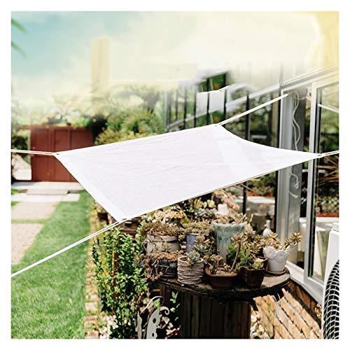 Vela de Sombra Rectangular Toldo Jardin Exterior Toldo de Bloqueo UV del 95% por Exterior Patio y Jardín Yarda Ocupaciones ALGFree (Color : White, Size : 1x1m)