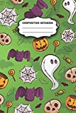 Composition Notebook: Halloween Lovers Pumpkin, Skull and Spider Web Funny Cute Lined Wide Ruled College Composition Notebook 150 Pages for Adult and ... and Girls Ages 4-8 for Gift or Home Use 2020.