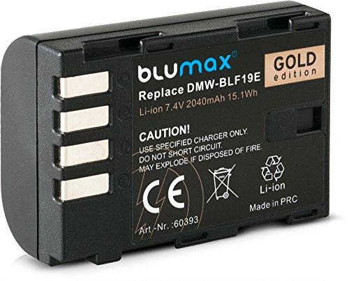 Blumax sostituisce DMW-BLF19 / DMW-BLF19E batteria 2040 mAh 7,4 V 15,1 Wh compatibile con fotocamera Panasonic Lumix DC-GH5 DMC-GH3 DC-GH55 DC-G9/DMC-GH4