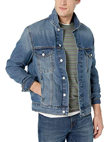 Calvin Klein Men's Denim Trucket Jacket, Ed blue, Large