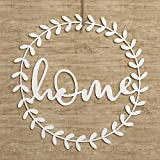 STEEL WALL ART SIGN DECOR: This metal wall art features the word 'Home' cut out in a round design. The small details of this rustic sign with script will add a vintage farmhouse touch to your decor that everyone in the family will love and enjoy. MAD...