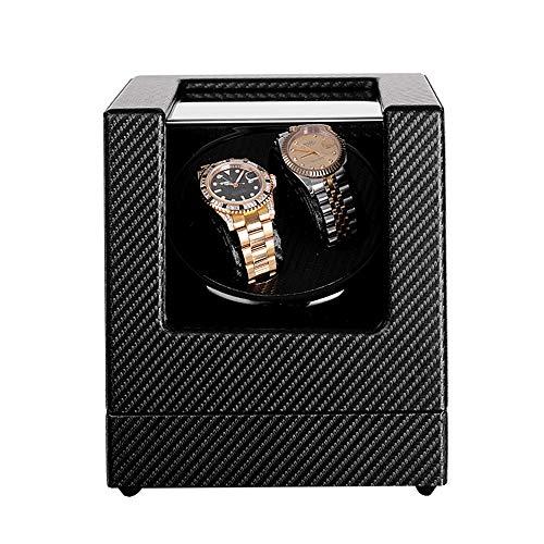 ZFF Watch Winder Winder Caja De Reloj Automático con El Solo Modos De Rotación del Motor Silencioso De Cuero Relojes For Hombres Y Mujeres (Color : Black)