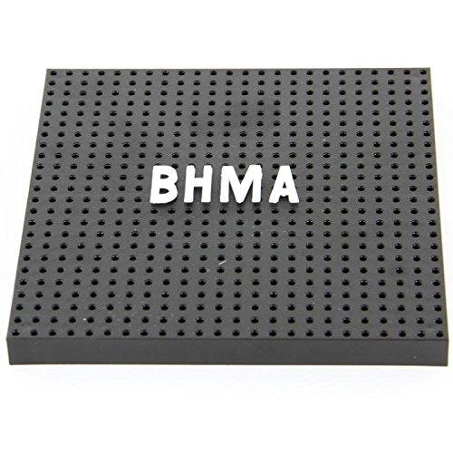 Schwarz PVC Stecktafel Fliesen - bauen Sie Ihre eigenen Stecktafel - 152x152mm