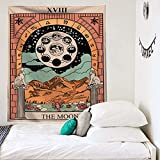 NHhuai Tapiz Tela Decoración del Hogar Estera de Yoga Toalla de Playa Impresa en Color Tarot Series