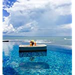 Floating Tray Luxury Floating Serving Tray Table and Bar - Swimming Pool Floats for Adults for Sandbars, Spas, Bath, and Parties | Floating Tray for Pool Serving Drinks, Brunch, Food on the Water 12 EXPERIENCE PARADISE - Enjoy brunch in the peaceful surroundings of your backyard pool oasis or serve drinks at your next sandbar party with class with our Balinese water floats. The most impressive floaties for adults available DITCH THE INFLATABLES - No need for a floating wine glass or cheap inflatable pool floats that don't hold up. Instead float cheese & fruit platters, drinks, food, magazines, sunscreen and more out into your pool for your guests to enjoy in style QUALITY GUARANTEED - Wahoo Living's incredible rattan style extra large pool floats are hand woven in Bali using Viro Synthetic Fiber that will not deteriorate in the sun. These non toxic, environmentally friendly beach floats are lined with custom foam for smooth floatation and support
