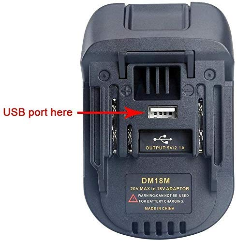 DM18M Battery Adapter Compatible with Dewalt Milwaukee Battery Convert to MAKITA Battery