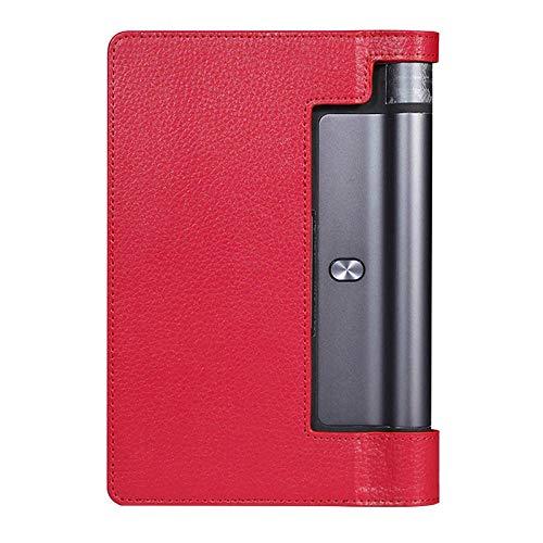 Funda de Cuero PU magnética para Lenovo Tab 3 8.0 850F 850M 850L Tab3-850 Funda Protectora Ultra Delgada para Yoga Tab 3 YT3-850F-rojo