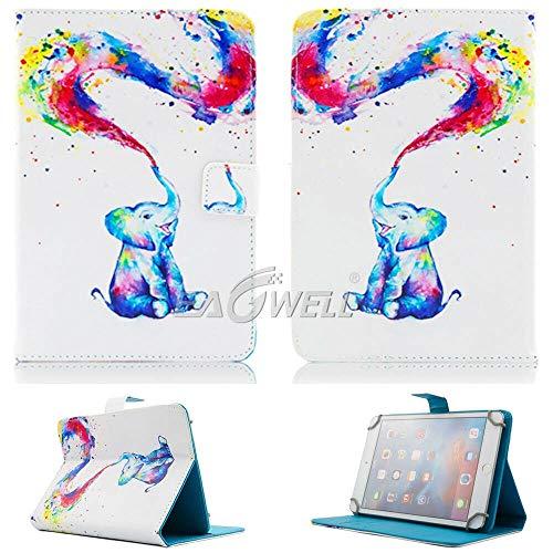 RZL PAD y TAB Fundas Para iPad Samsung Lenovo pestaña 7.0 10 7 pulgadas 10 pulgadas, estuche de tableta impreso PU CUERCO DE CUERCO CUBIERTA CUBIERTA A prueba de golpes para iPad Samsung Lenovo Tab 7.