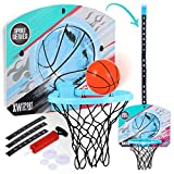 Mini Basketball Hoop Indoor for Kids,Over the Door Basketball Hoop for Room,Office&Bathroom Games,Desk Accessories for Cubicle,Shooting Game Toy for Kids&Adults,Gift for Boys Girls Toddlers,Punch-Free