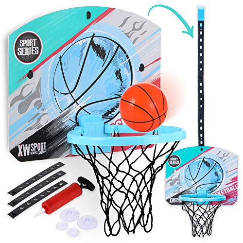 ZaxiDeel Indoor Basketball Hoop for Door & Wall, Over...