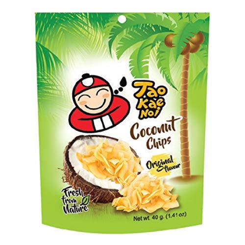 Taokaenoi Coconut Chips Original, 100 % natürliche Zutaten, 40 g