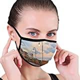 MSGDF Fashion 3D Printed Face Cover,Dawn at Ortona Abruzzo Italy Terrace View on The Adriatic Sea,Reusable Funny Dustproof Washable Face Adjustable Face_mask_Protect for Unisex Adult Men and Women