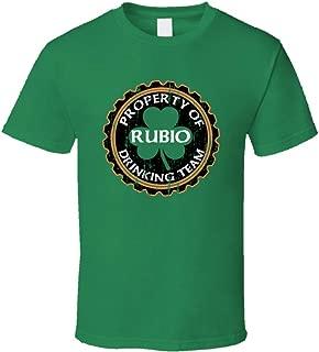 Rubio Drinking Team Property of Beer Cap St Patricks T Shirt