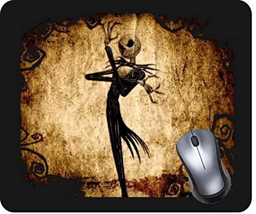 Gaming Computer Mouse Pad with Non-Slip Rubber Base, Premium-Textured and Waterproof Mousepad Laptop, Office & Home-Jack Skellington