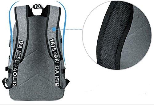 beibao shop Backpack Sacs à Dos pour Ordinateur Portable Imperméable Résistant à l'usure Tissu Oxford Commerce Casual Épaules Chargement USB Extérieur Multi-Fonctionnel Sac à Dos d'ordinateur, Blue