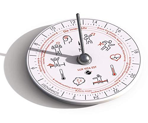 HORA Lux C Sonnenuhr mit innerer Uhr aus Porzellan