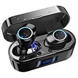 True Wireless Earbuds in-Ear Bluetooth 5.0 Headphones Sweatproof Long Playtime Wireless Earphones with Charging Case Bluetooth Earbuds with Mic for Running Sports Gym