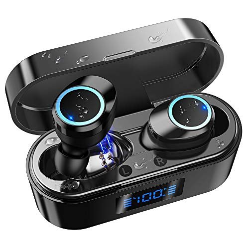 51hfXrcRy0L. SL500  - [2019 Update Version]QDT B9 True Wireless Earbuds, Bluetooth 5.0 Earbuds with Space Capsule Charging Case IPX7 Waterproof Auto Pairing in-Ear Wireless Stereo Bluetooth Headphones Support Running Sport