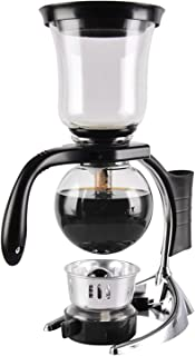 YUCHENGTECH Siphon sifon kaffebryggare hemma glas sifon kruka sifon vakuum kaffebryggare (3 koppar)