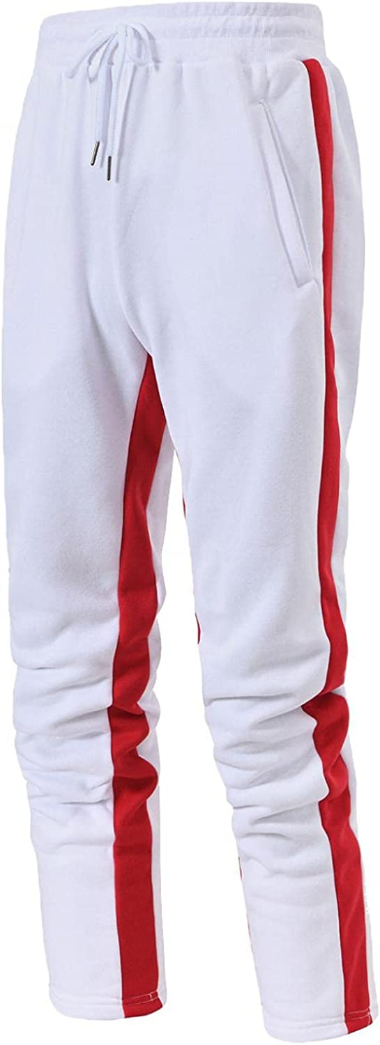 Huangse Men's Casual Joggers Pants Slim Fit Athletic Sweatpants for Gym Workout Athletic with Zipper Ankle Cuffs