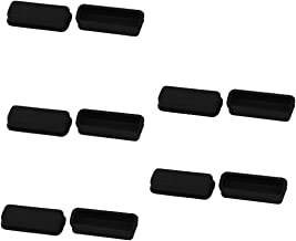 10 Pcs Black Silicone Anti Dust Protector Cover for DVI Video Port