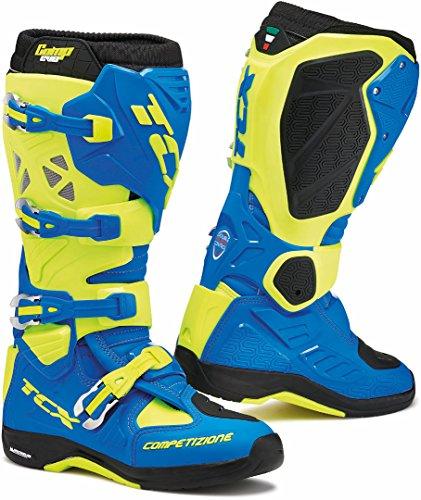 9662 - TCX Comp Evo 2 Michelin Motocross Boots 45 Royal Blue Yellow Fluo (UK 10)