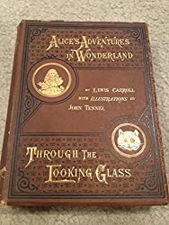 Alice's Adventures in Wonderland and Through the Looking Glass and What Alice Found There by Lewis Carroll, 1881, hardcover, rare. excellent condition