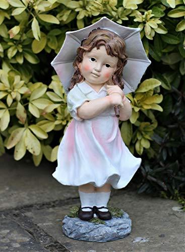 HH Home Hut Garden Ornament Little Girl Lady Cherub Fairy Garden Decor Patio