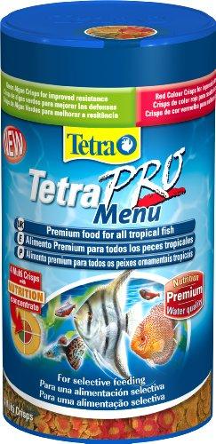 Tetra Pro Menu Fish Food, Complete Premium Food for All Tropical Fish, 250 ml