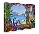 Giallobus - Quadro - Stampa su Tela Canvas Mikki SENKARIK - Quadro con Paesaggio Serenade of The Sea - Quadri Moderni di Tela - Vari Formati - 100 x 140 CM