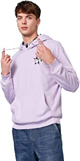 Mens Hooded Sweatshirt Hooded fashion loose personality printing trend hip hop printing solid color simple coat