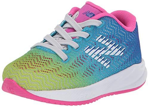 New Balance Unisex-Child FuelCore Velocirun V1 Bungee Running Shoe, Summer Fog, 3 M US Infant