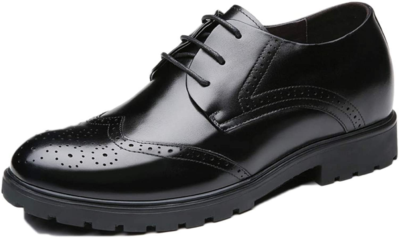 Nihiug Herren Lederschuhe Schnürschuhe Klassische Hochzeit Herbst Und Winter Brogue Leder Business-Schuhe