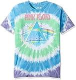 Liquid Blue Men's Pink Floyd Dark Side Oil Paint Short Sleeve T-Shirt, Multi Tie Dye, Small