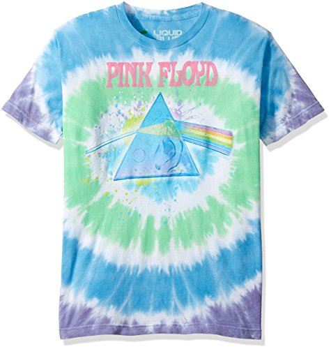 Liquid Blue Men's Pink Floyd Dark Side Oil Paint Short Sleeve T-Shirt, Multi Tie Dye, 2XL